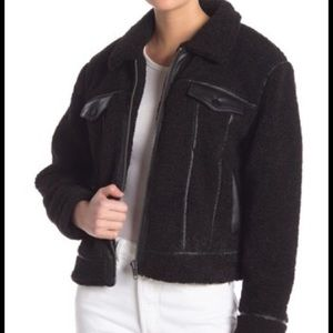 Rebecca Minkoff Clark faux leather trimmed jacket